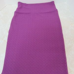 Lularoe Cassie Pencil Skirt Sz Small Purple Spring